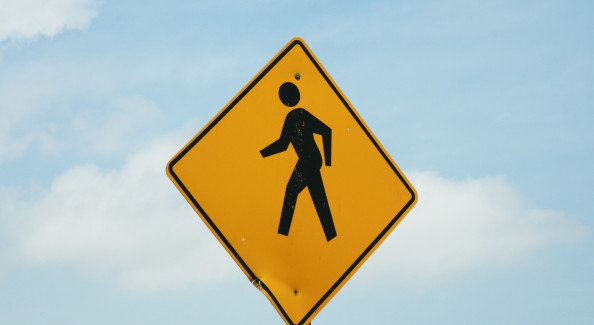 Pedestrian Walking Sign