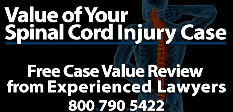 Average Compensation Spinal Cord Injury Lawsuit Case Worth