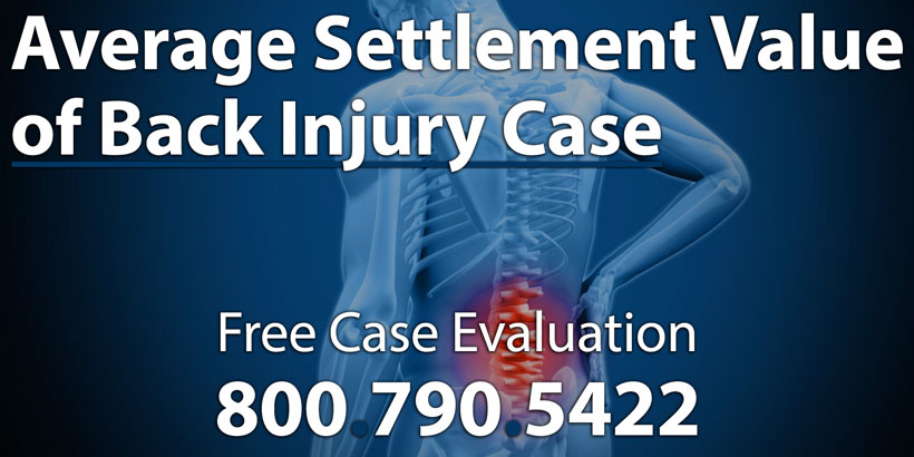 Average Settlement Value of a Back Injury Lawsuit